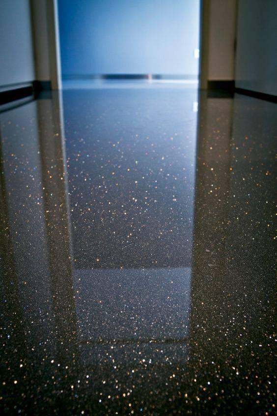 piso com brilhos