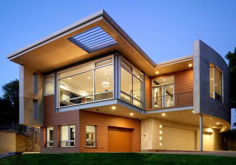 casa pré-fabricada moderna