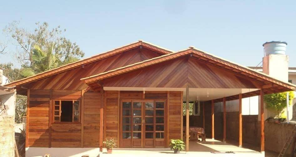 casa pré-fabricada térrea