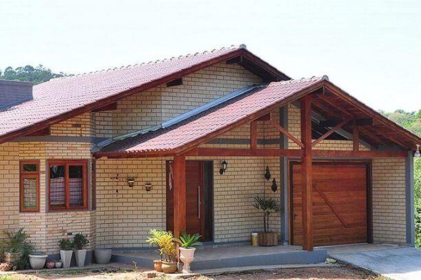 casa pré-fabricada de tijolo