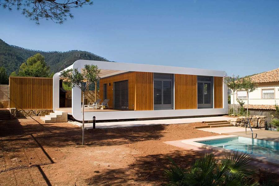 casa pré-fabricada moderna e simples