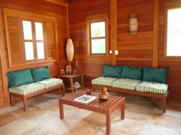 sala interna de casa pré fabricada