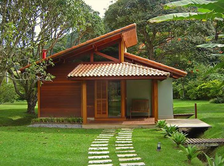 fachada de casa pré-fabricada