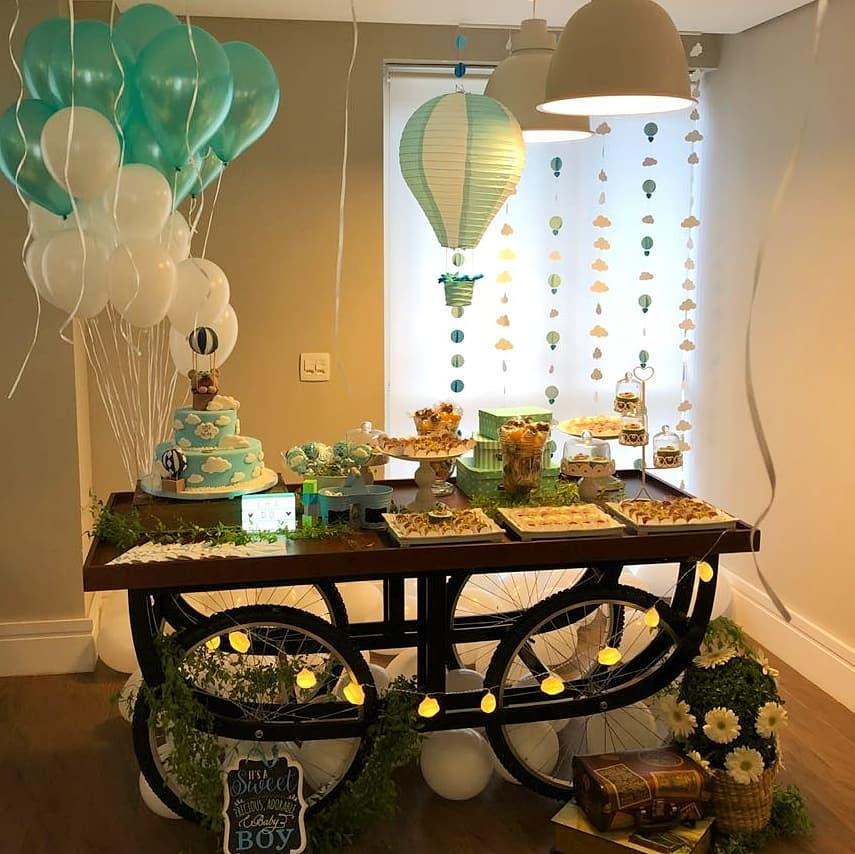 utilizando balões