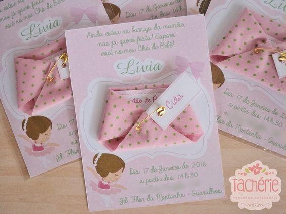 convite personalizado para chá de bebê