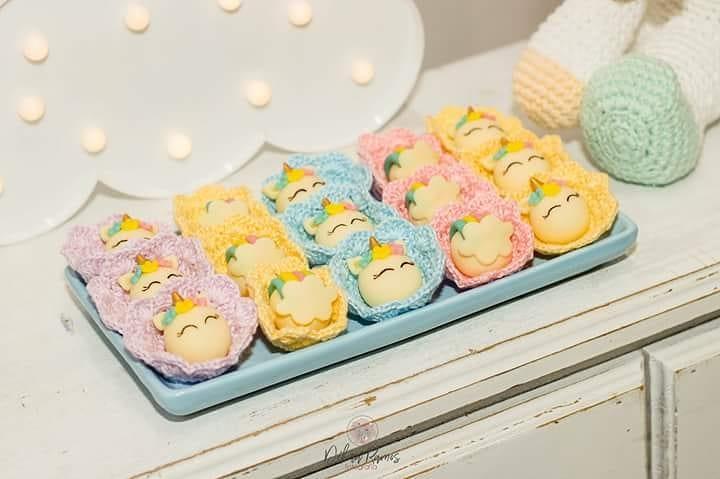bolinhos para decoração de chá de bebê