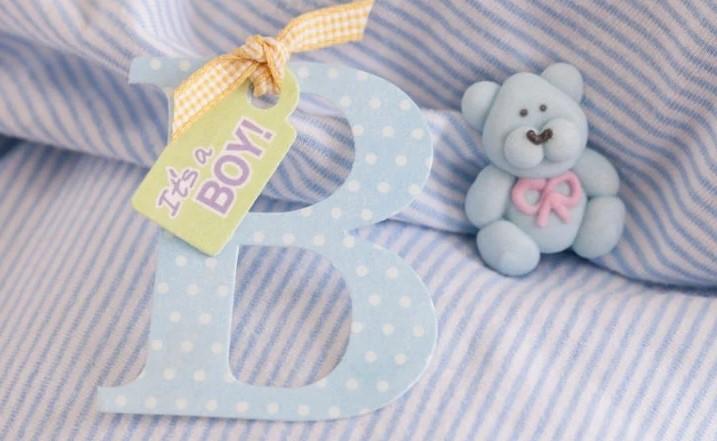 inicial do bebê como lembrança
