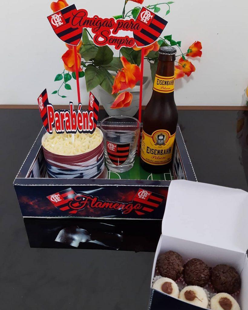 Festa na caixa para flamenguista