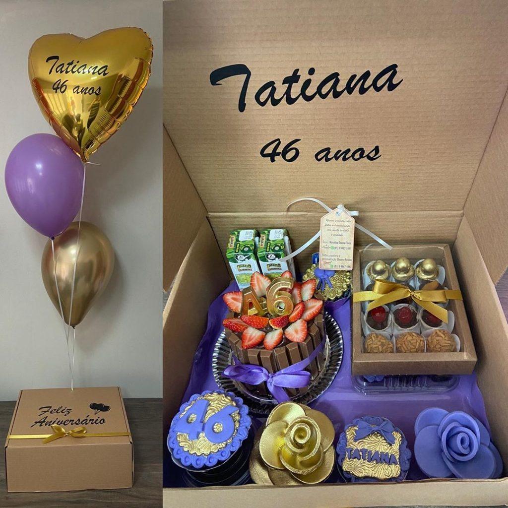 Festa na caixa com balões