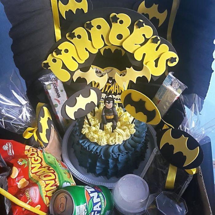 decoração com batman