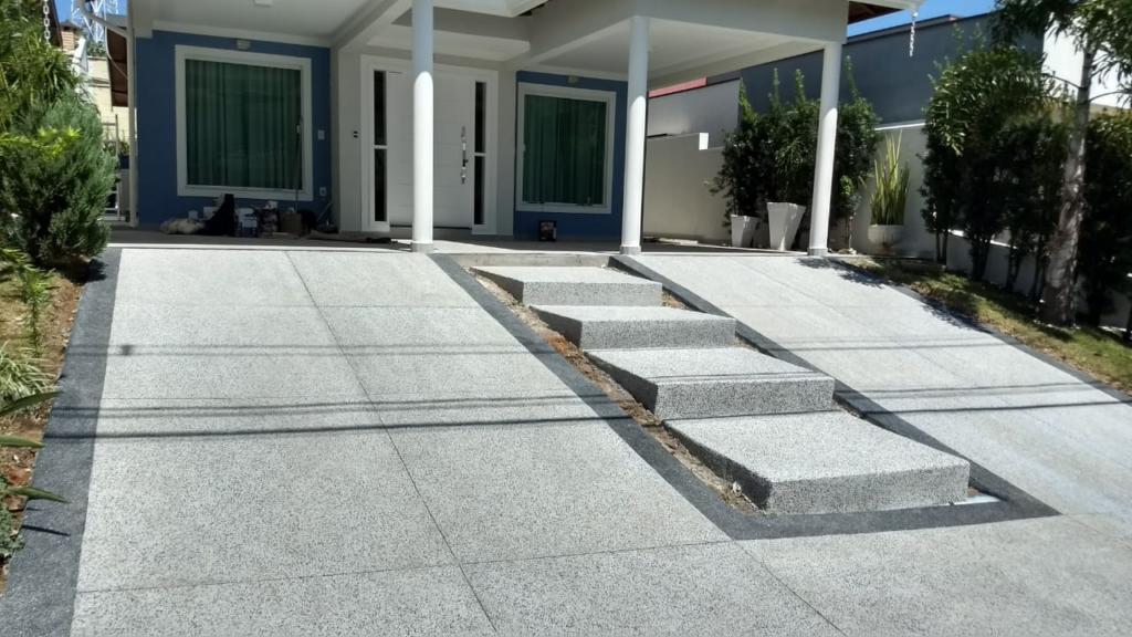 piso externo de granilite