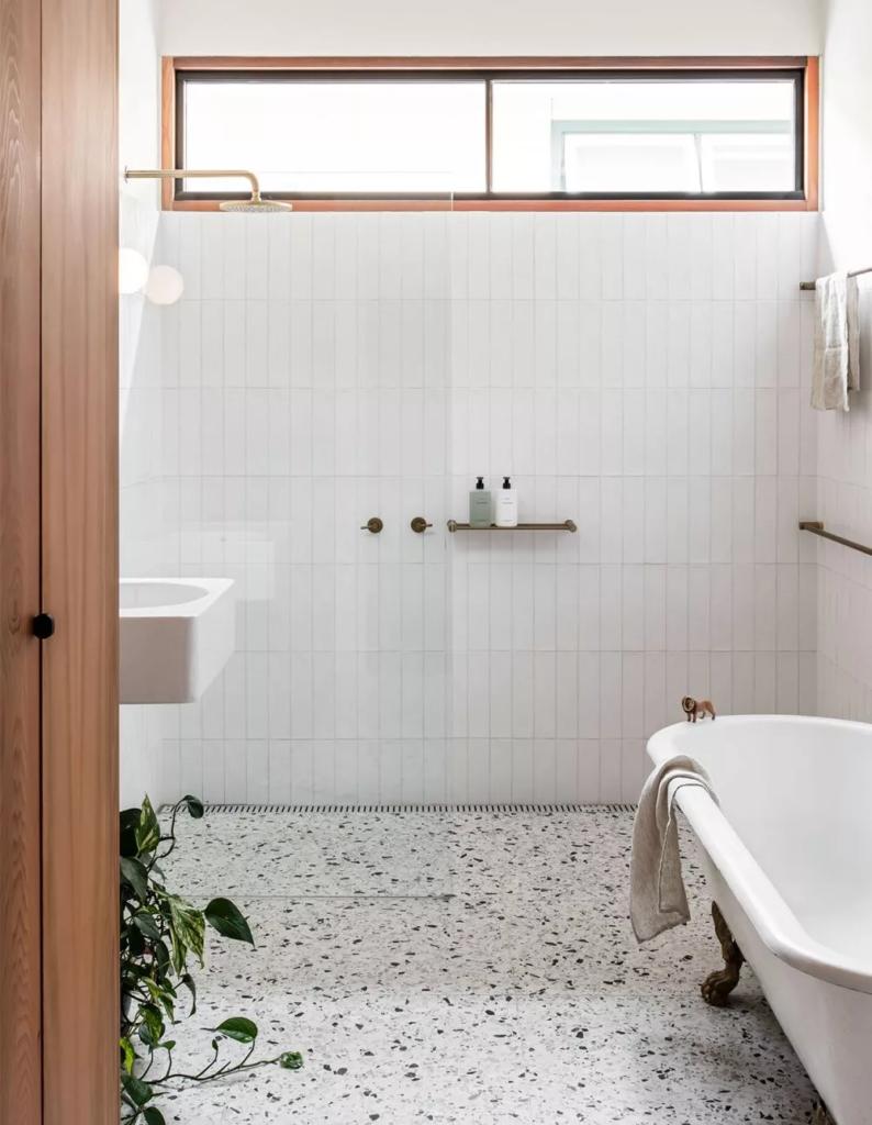 piso decorado com granilite