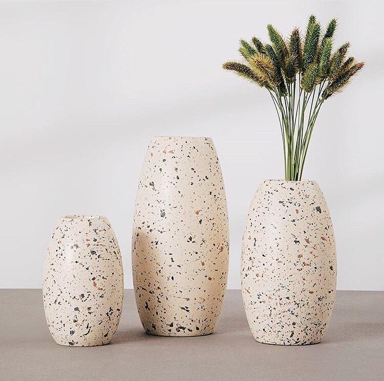 vaso decorativo de granilite