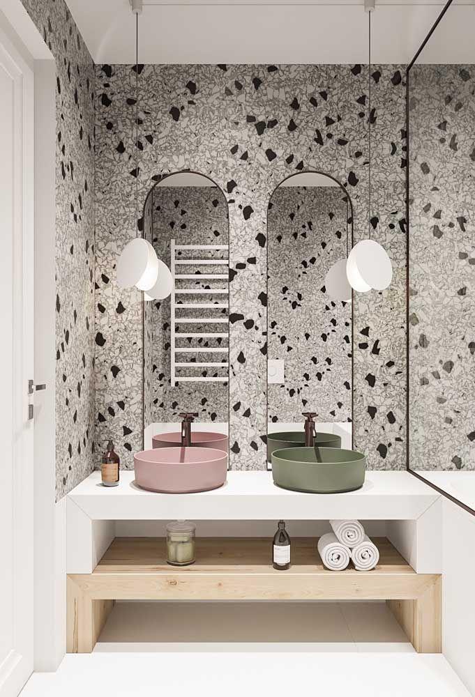 banheiro moderno com granilite