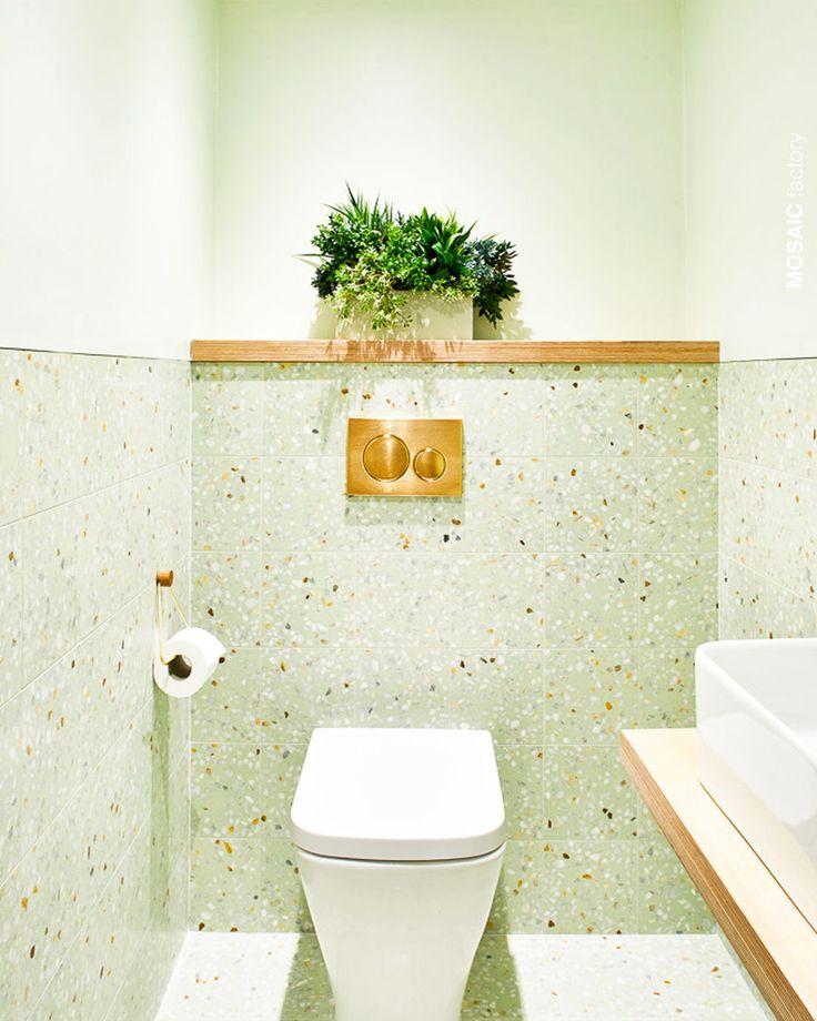 lavabo verde charmoso
