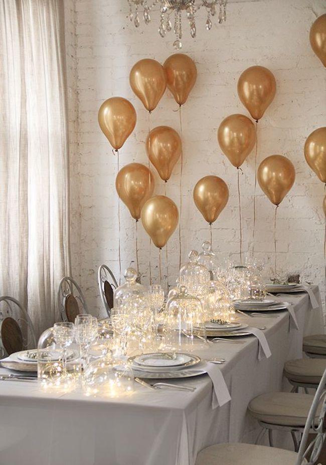 bexigas para decorar mesa