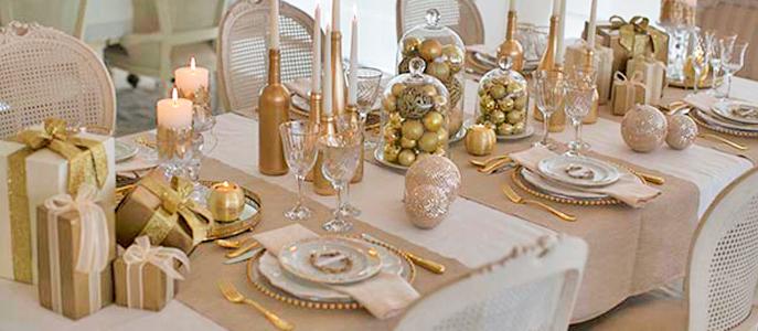 mesa para decoração ano novo