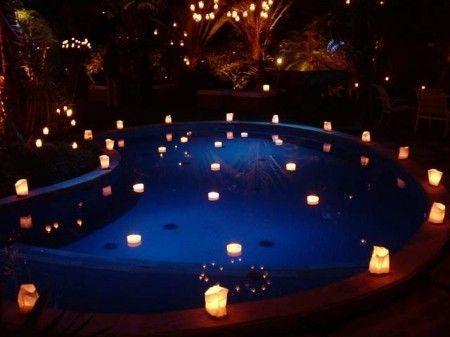 piscina decorada