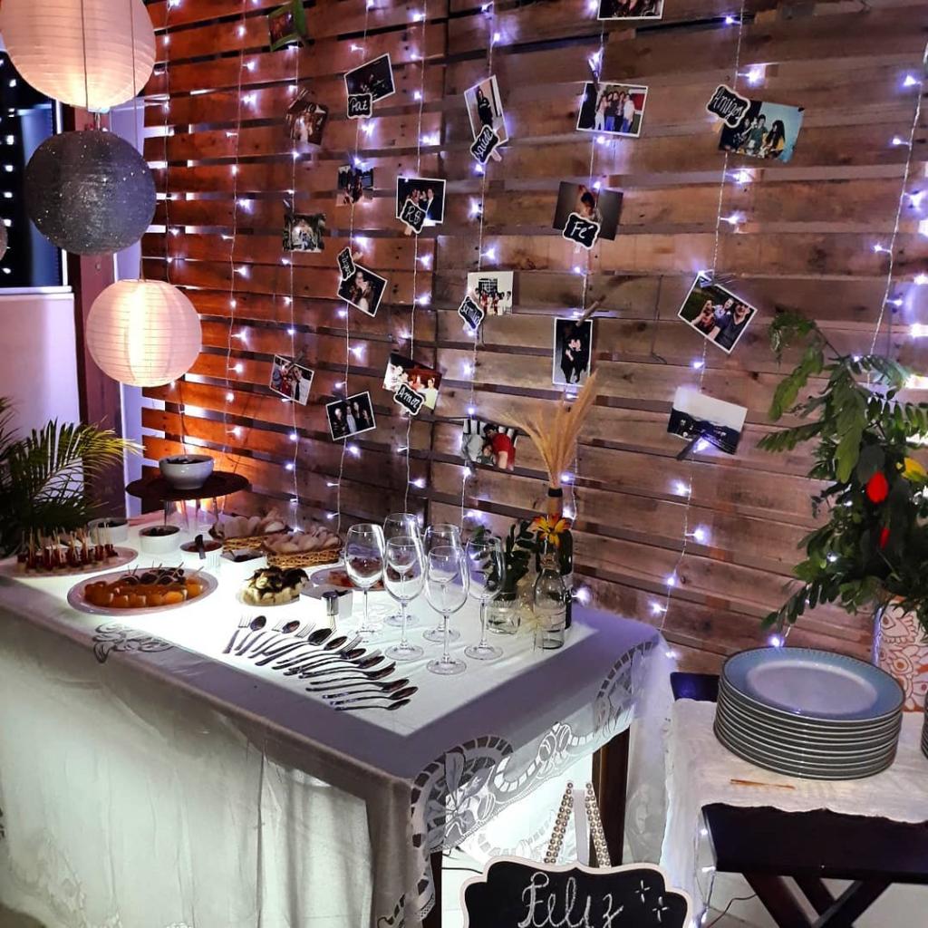 varal de fotos como decoração