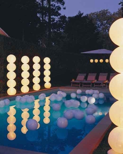 iluminação com bolas