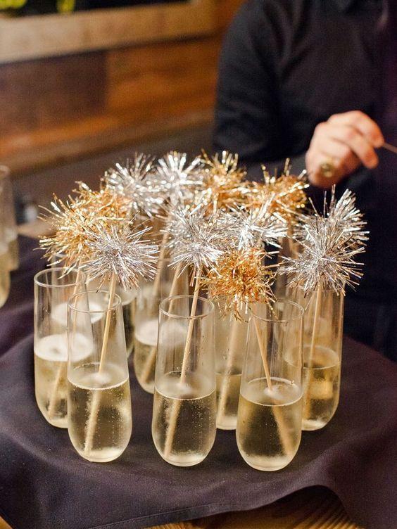 drinks como decoração ano novo