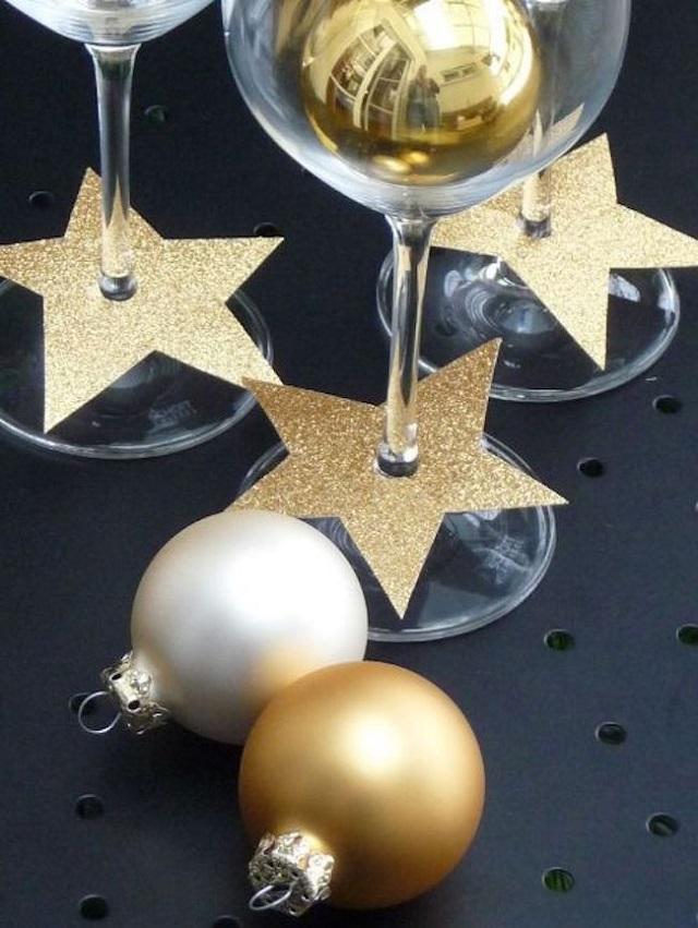 decoração ano novo em taças