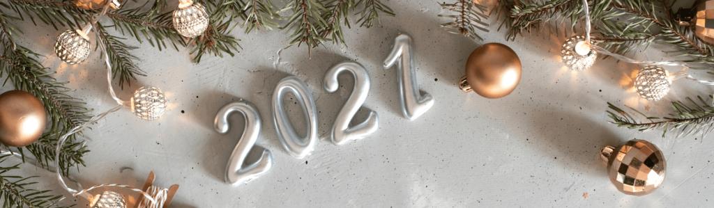 decoração ano novo no piso