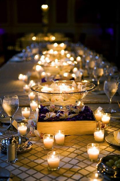 mesa decorada de ano novo