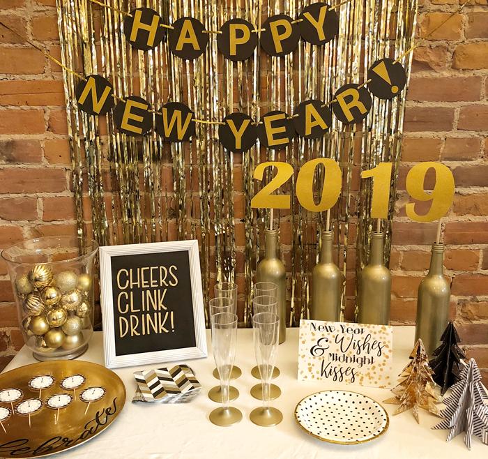decoração ano novo dourado