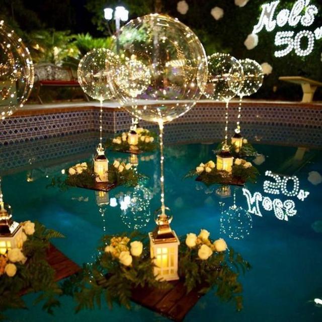 lanternas com balões