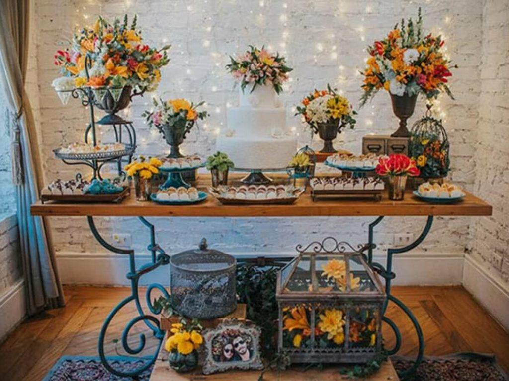 decoração rustica com kalanchoe