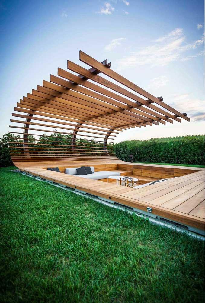 pergolado de madeira moderno
