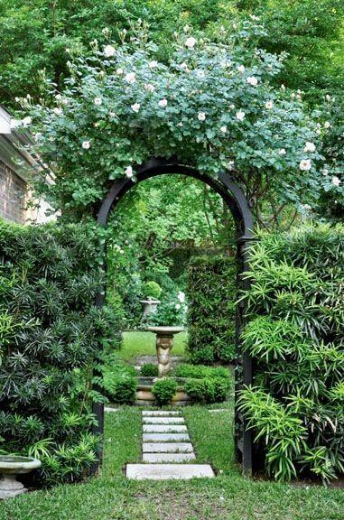 decoração de entrada de jardins
