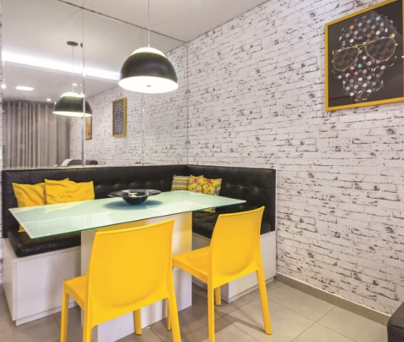 decoração moderna e rústica