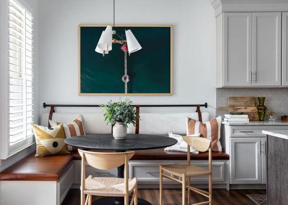 mesa redonda para decoração