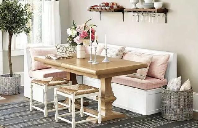 mesa retangular para decoração de sala de jantar