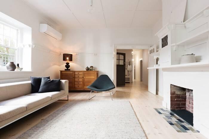 casa com piso de madeira