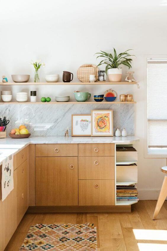 cozinha simples com decoração