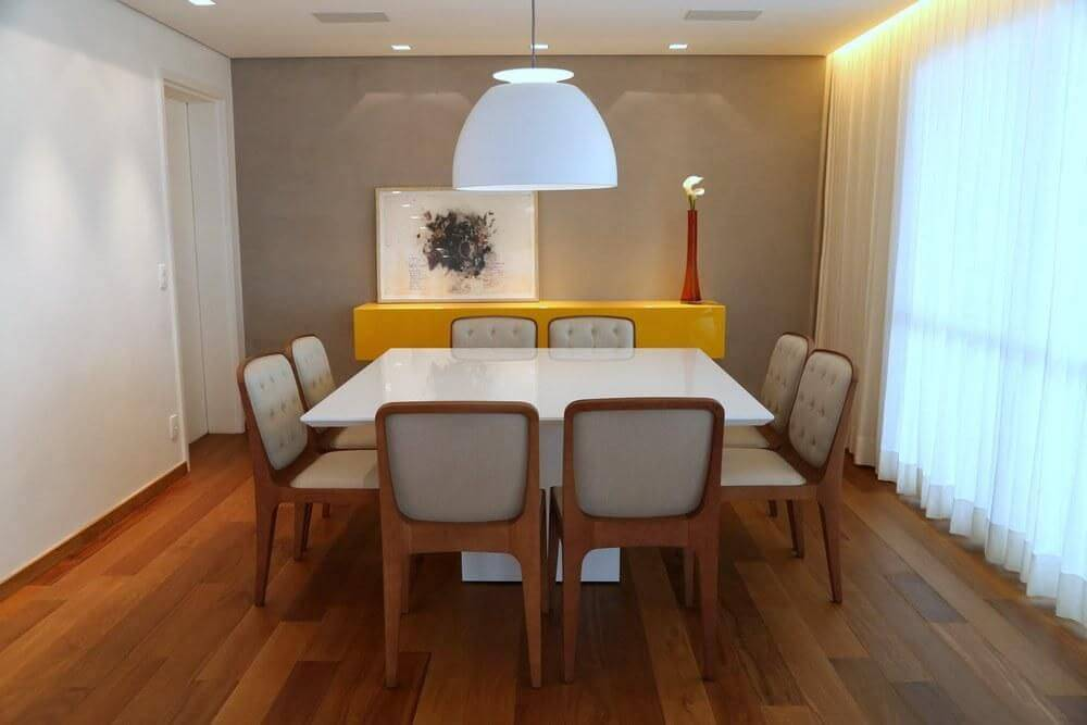 decoraçao com piso de madeira