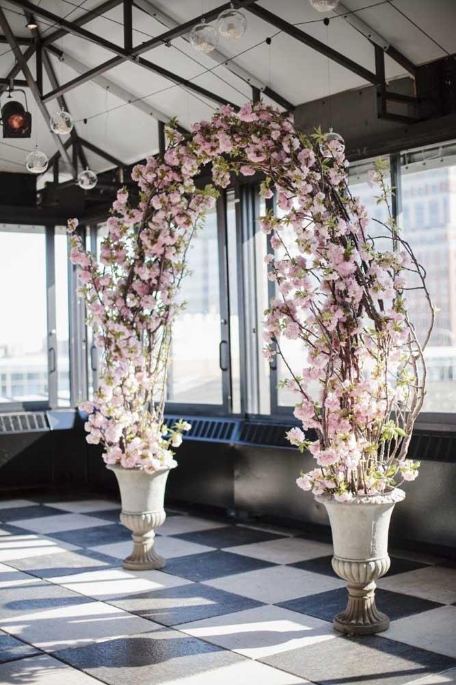 arco de flor de cerejeira