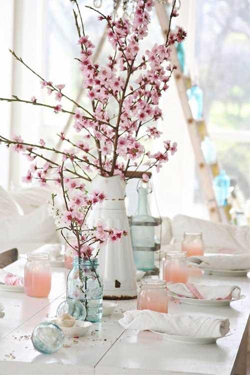 flor de cerejeira em vasos