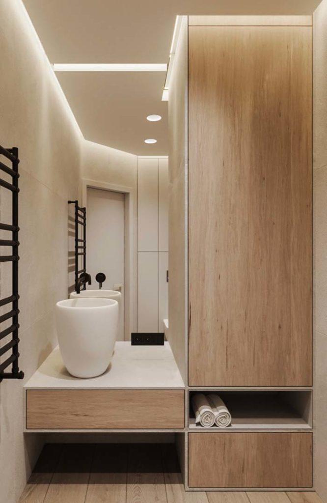 banheiro com forro