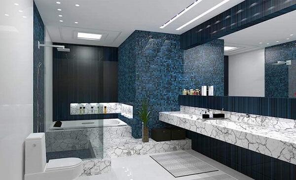 banheiro moderno e gesso