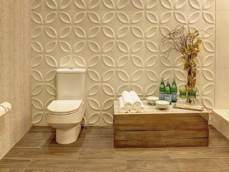 banheiro revestido com gesso