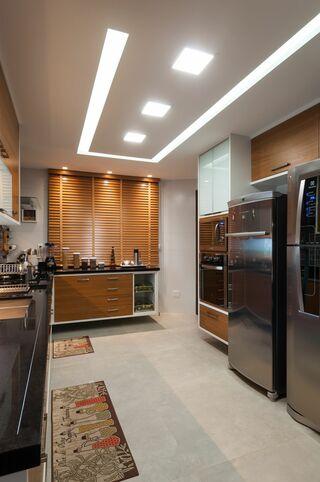 cozinha com gesso acartonado