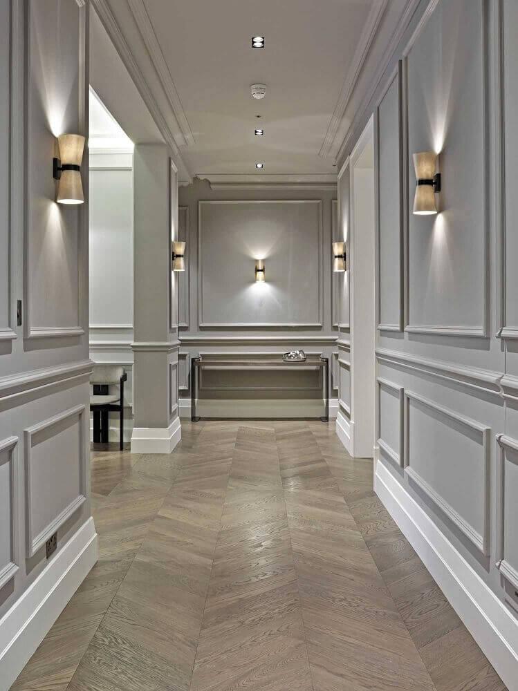 corredor com decoração
