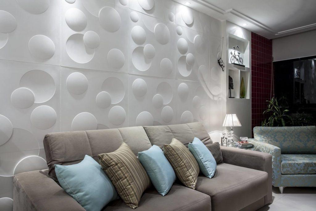 sala decorada em 3d