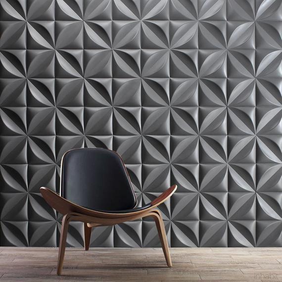 parede decorada cinza