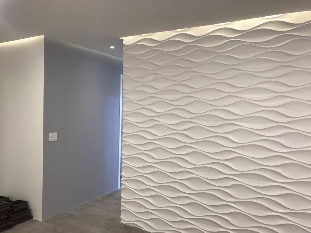 parede decorada com 3d