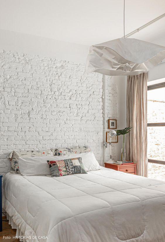 quarto com decoração branca